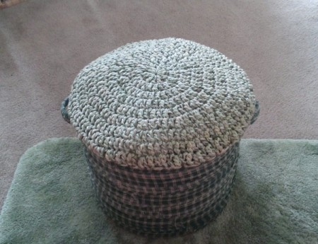 Making a Foot Stool from a Kitchen Pot