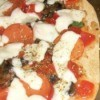 closeup of pizza