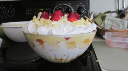 Strawberry-Peach Trifle
