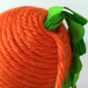 Yarn Wrapped Carrot