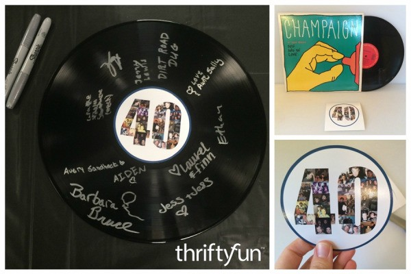 Making a Signed Vinyl Record Party Keepsake