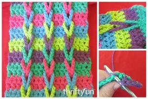 Making a Connecting Loops Crocheted Scarf