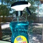 spray nozzle on dish soap container