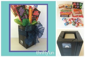 Making a VHS Tape Candy Bouquet