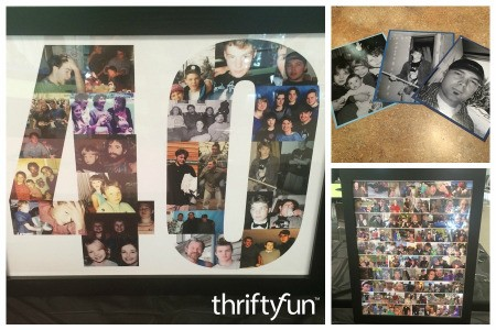 Making 40th Birthday Posters and Photos