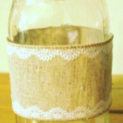 jar with ribbon cuff