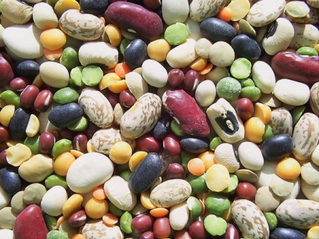 A variety of mixed bulk beans