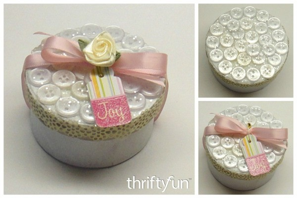 Making a Button Gift Box
