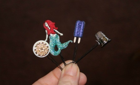 Making Button Bobby Pins