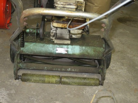 gas powered reel mower