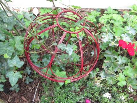 Garden Sphere Out Of Hanging Baskets