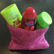 bag with toiletries
