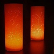 Making Paper Tea Light Shades