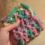 Lacy Crocheted Dishcloth