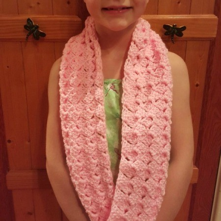 Making a Fan Stitch Crochet Cowl