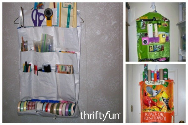 Making an Organizer from Pet Food Bags