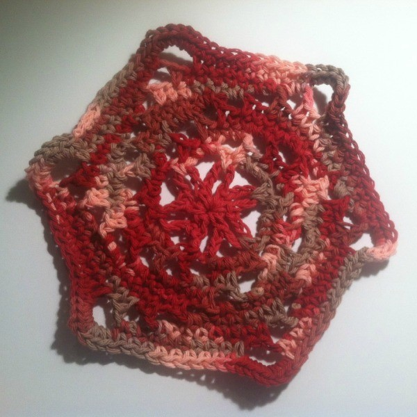 Making a Crocheted Dishcloth