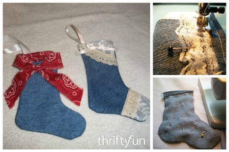Making Mini Denim Christmas Stockings