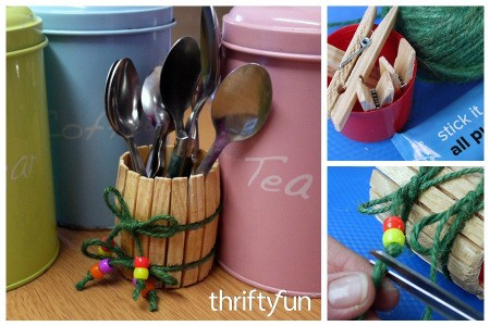 Making a Clothespin Barrel Shaped Pot