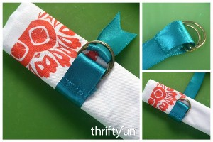 Making an Easy Ribbon Tie for Serviettes (Napkins)