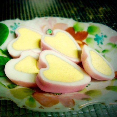 Making Valentine's Day Boiled Eggs
