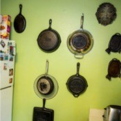 Hang Flat Pans on Kitchen Wall