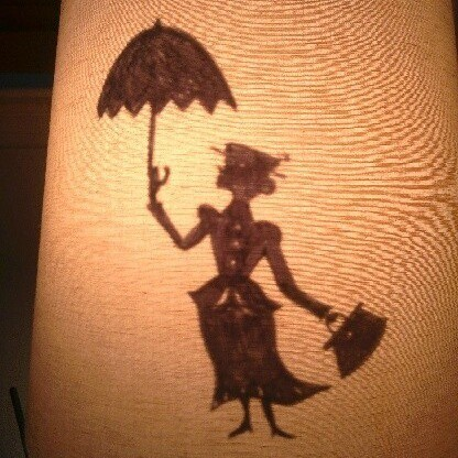 Making a Mary Poppins Lampshade