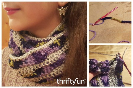 Making a Crochet Waves Pattern Cowl