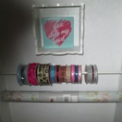 Tension Rod Crafting Ribbon Holder