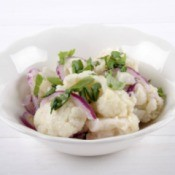 Mock Potato Salad made from Cauliflower