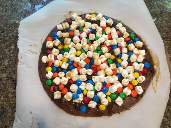 Candy Brownie Pizza