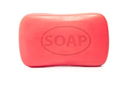 Red bar of soap