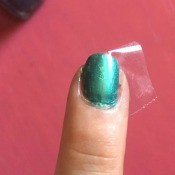 DIY Matte/Shiny Nail Art