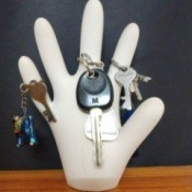 Plaster of Paris Hand Keyholder