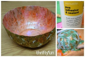 Making a Tissue Paper Bowl