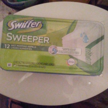 Swiffer Pads for a Sparkling Toilet Bowl
