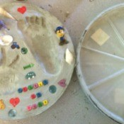 Using Flower Pot Saucers for Stepping Stones