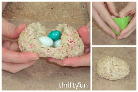 Making Rice Krispy Treat Eggs