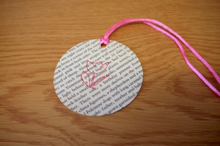 round book page bookmark