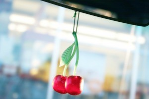 Cherry car air freshener dangling for car rear view mirror