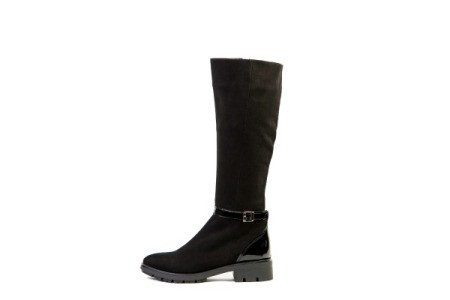 Tall women's black suede boot