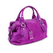 Purple suede purse