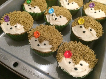 Making Hedgehog Cupcakes Thriftyfun