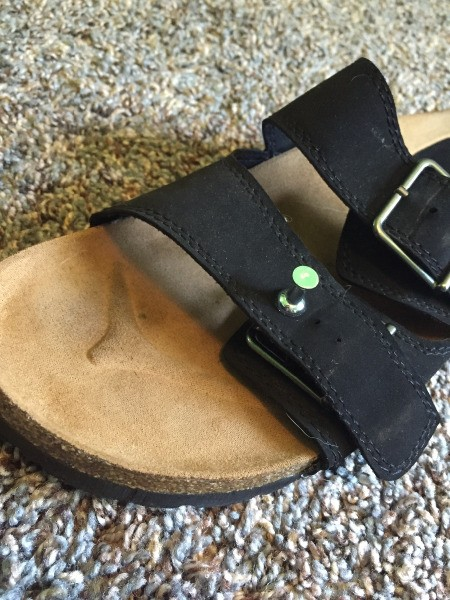 Use Tack to Make Extra Hole in Sandals