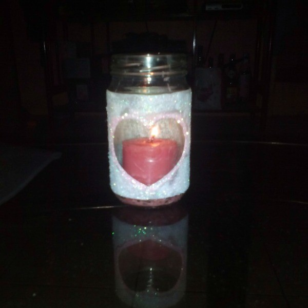 Homemade scented candle in a jar decoration thriftyfun for Scents for homemade candles