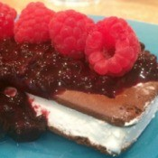 Ice Cream Sandwiches with Blackberry Sauce