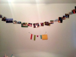 photo and date string on wall