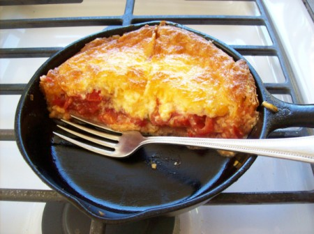 Summer Fresh Tomato Pie for One