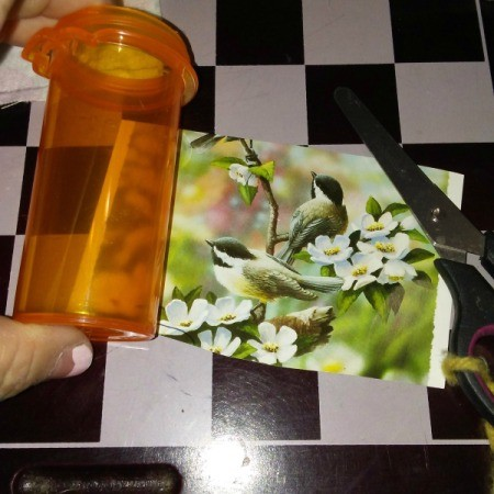 Greeting Card Pill Bottle Storage Container