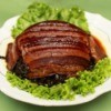 Braised Pork on a bed of lettuce